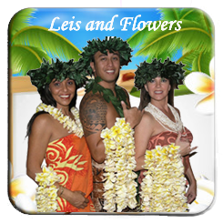 plumeria leis and flowers